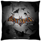 Batman Arkham Asylum - Logo Throw Pillow Throw Pillow