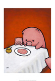 Revenge is a Dish (Pig) Prints by Luke Chueh