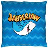 Jabberjaw - Chevron Throw Pillow Throw Pillow