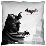 Batman Arkham City - Ac Logo Throw Pillow Throw Pillow