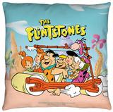 Flintstones - The Flintstones Gang Throw Pillow Throw Pillow