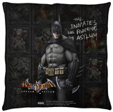 Batman Arkham Asylum - Arkham Inmates Throw Pillow Throw Pillow