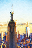 Empire State Sunset - In the Style of Oil Painting Giclee Print by Philippe Hugonnard