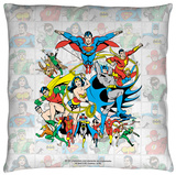 DC - Classic Squares Throw Pillow Throw Pillow