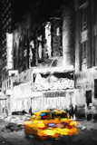 Yellow Cab - In the Style of Oil Painting Giclee Print by Philippe Hugonnard