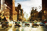 Four Taxis II - In the Style of Oil Painting Giclee Print by Philippe Hugonnard