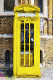 Yellow Phone Booth - In the Style of Oil Painting Giclee Print by Philippe Hugonnard