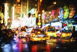 Taxis Night II - In the Style of Oil Painting Giclee Print by Philippe Hugonnard