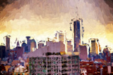 One World Trade Center - In the Style of Oil Painting Giclee Print by Philippe Hugonnard