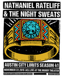 Nathaniel Rateliff & the Night Sweats Serigraph by  Print Mafia