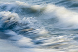 Waves, blurred movement, Sanibel Island, Florida Photographic Print by Fritz Polking