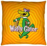 Wally Gator - Wally Gator Throw Pillow Throw Pillow