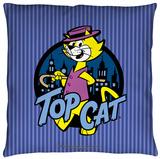 Top Cat - TC Pinstripes Throw Pillow Throw Pillow