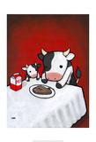 Revenge Is A Dish (Cow) Posters par Luke Chueh
