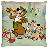 Yogi Bear - Lunch Break Throw Pillow Throw Pillow