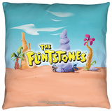 Flintstones - The Flintstones Logo Throw Pillow Throw Pillow