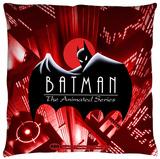 Batman The Animated Series - Btas Logo Throw Pillow Throw Pillow