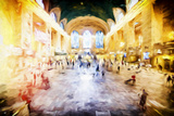 Grand central Terminal - In the Style of Oil Painting Giclee Print by Philippe Hugonnard