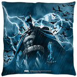 Batman - Stormy Knight Throw Pillow Throw Pillow