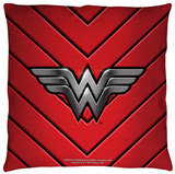 Justice League of America - Ww Emblem Throw Pillow Throw Pillow