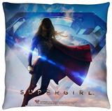 Supergirl - Endless Sky Throw Pillow Throw Pillow
