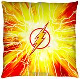 Justice League of America - Lightning Emblem Throw Pillow Throw Pillow