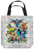 DC - Classic Squares Tote Bag Tote Bag