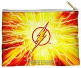 Justice League of America - Lightning Emblem Zipper Pouch Zipper Pouch