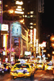 Broadway Night - In the Style of Oil Painting Giclee Print by Philippe Hugonnard