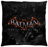 Batman Arkham Knight - Ak Logo Throw Pillow Throw Pillow