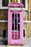 Pink Phone Booth - In the Style of Oil Painting Giclee Print by Philippe Hugonnard