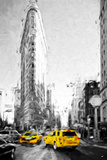 The Flatiron Building II - In the Style of Oil Painting Giclee Print by Philippe Hugonnard