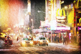 Snow Storm in Manhattan II - In the Style of Oil Painting Giclee Print by Philippe Hugonnard