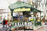 Subway Entrance - In the Style of Oil Painting Giclee Print by Philippe Hugonnard