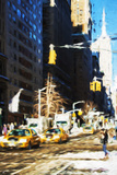 Winter Day in NYC - In the Style of Oil Painting Giclee Print by Philippe Hugonnard