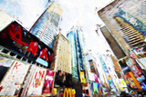 Times Square Buildings - In the Style of Oil Painting Giclee Print by Philippe Hugonnard