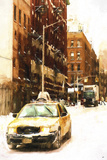 NY Winter Day Giclee Print by Philippe Hugonnard