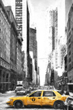 Taxi in New York Giclee Print by Philippe Hugonnard