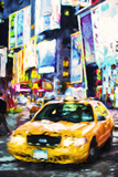 Yellow Taxi - In the Style of Oil Painting Giclee Print by Philippe Hugonnard