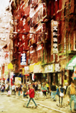 Chinatown NYC - In the Style of Oil Painting Giclee Print by Philippe Hugonnard