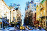 Winter Day in NYC IV - In the Style of Oil Painting Giclee Print by Philippe Hugonnard