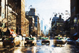 Four Taxis - In the Style of Oil Painting Giclee Print by Philippe Hugonnard