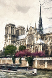 Notre Dame Paris Giclee Print by Philippe Hugonnard