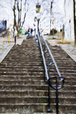 Paris Montmartre II - In the Style of Oil Painting Giclee Print by Philippe Hugonnard