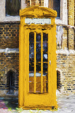 Dark Yellow Phone Booth - In the Style of Oil Painting Giclee Print by Philippe Hugonnard
