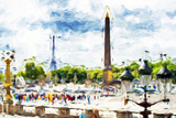 Paris Concorde - In the Style of Oil Painting Giclee Print by Philippe Hugonnard