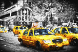 72 Taxis Station II - In the Style of Oil Painting Giclee Print by Philippe Hugonnard