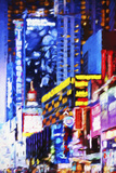Times Square Night - In the Style of Oil Painting Giclee Print by Philippe Hugonnard