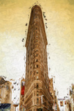 The Flatiron - In the Style of Oil Painting Giclee Print by Philippe Hugonnard