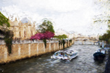 Paris Seine IV - In the Style of Oil Painting Giclee Print by Philippe Hugonnard